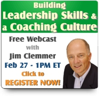 Webinar on Building Leadership Skills and a Coaching Culture