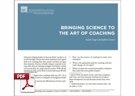 Whitepaper on Bringing Science to the Art of Coaching