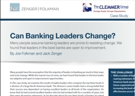 Case Study-Can Banking Leaders Change?
