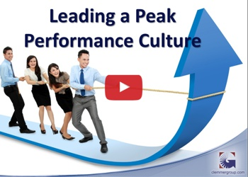 Leading a Peak Performance Culture Webcast