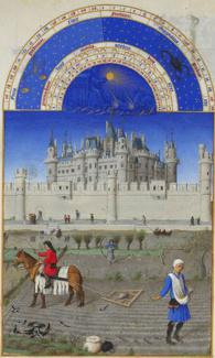 October, from the Très Riches Heures du Duc de Berry