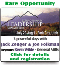 Very Rare Leadership Summit Opportunity